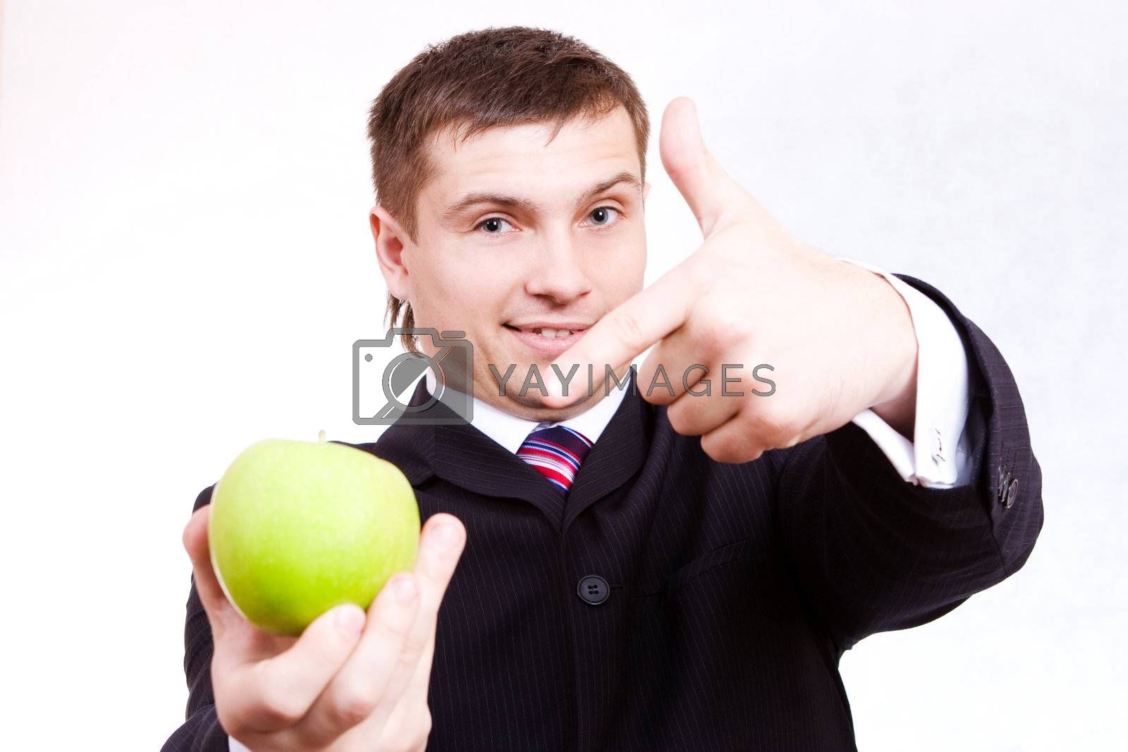 laughter guy is to give your ripe green apple