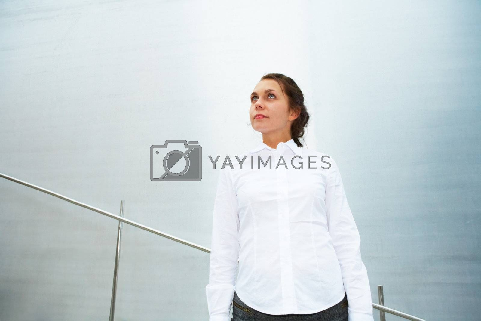 Royalty free image of Young Woman Contemplating by Luminis