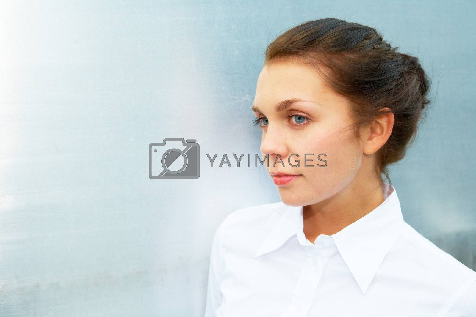 Royalty free image of Young Woman Portrait by Luminis