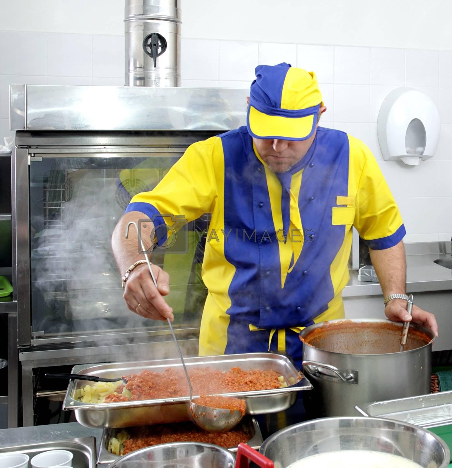 Preparing delicious meal