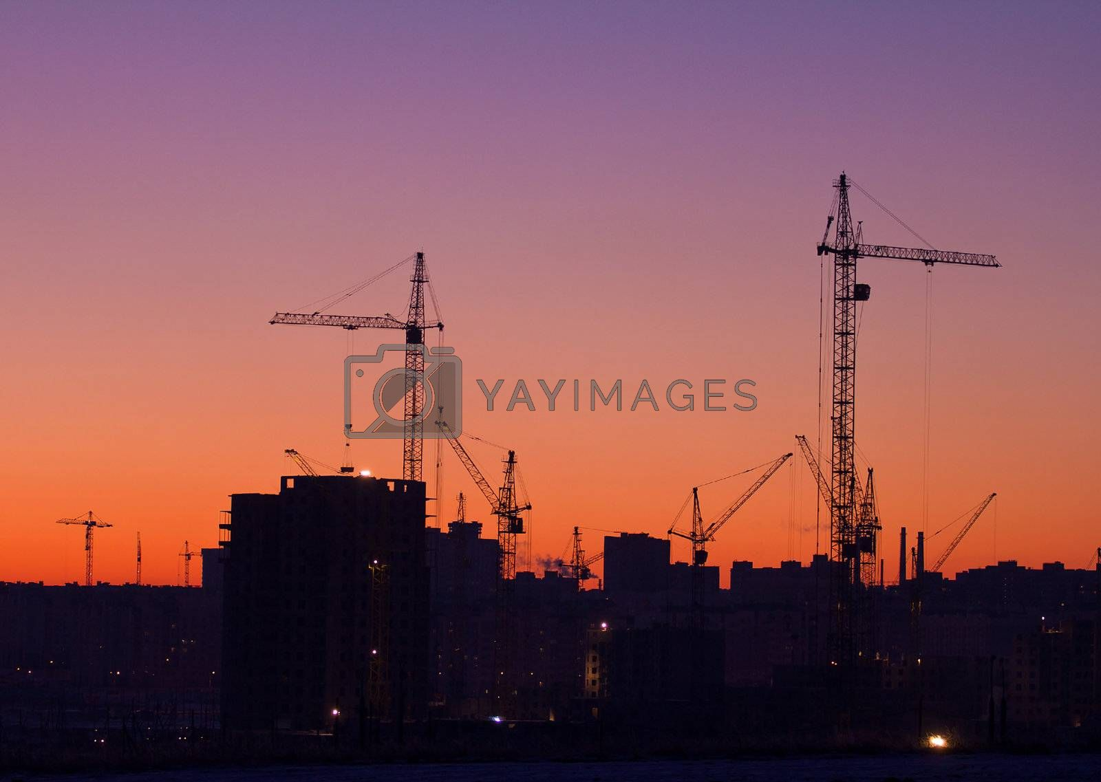 city under construction by Alekcey