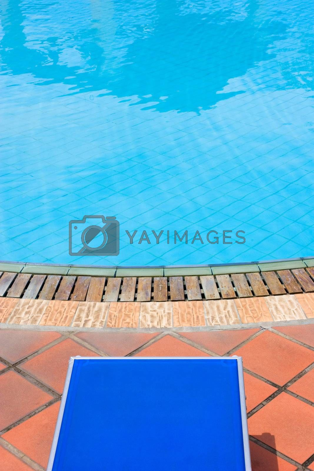 Photo of an empty pool view.