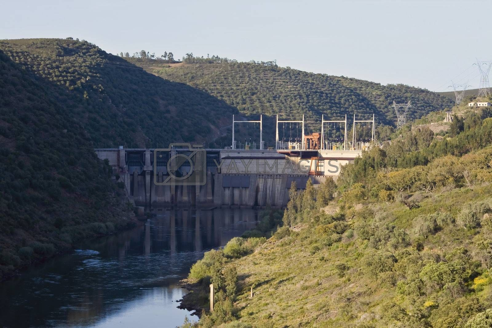 Barrage in Alentejo valley