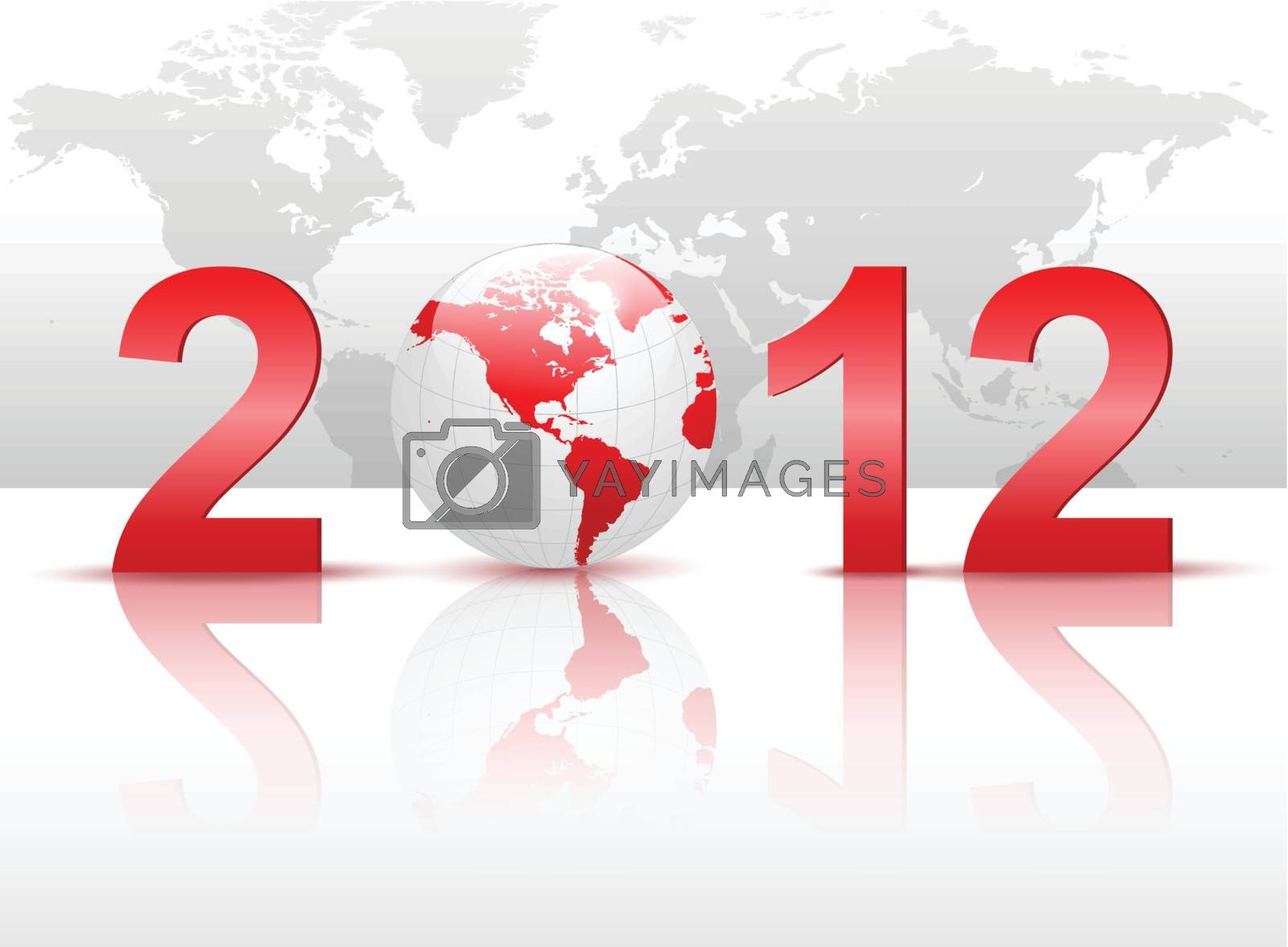 New Year 2012 background for business.
