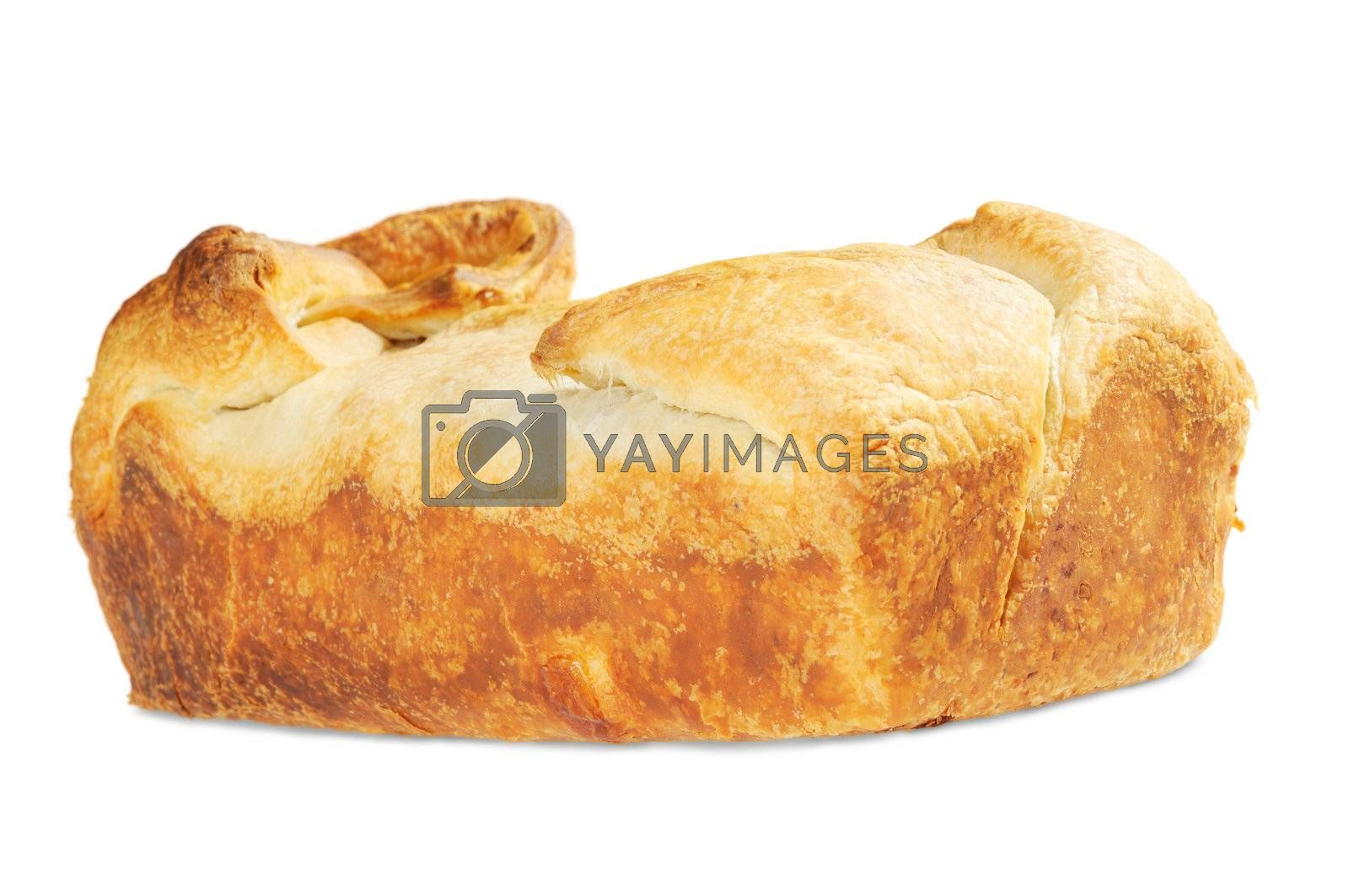 Bakery of puff pastry. Isolated on white background.