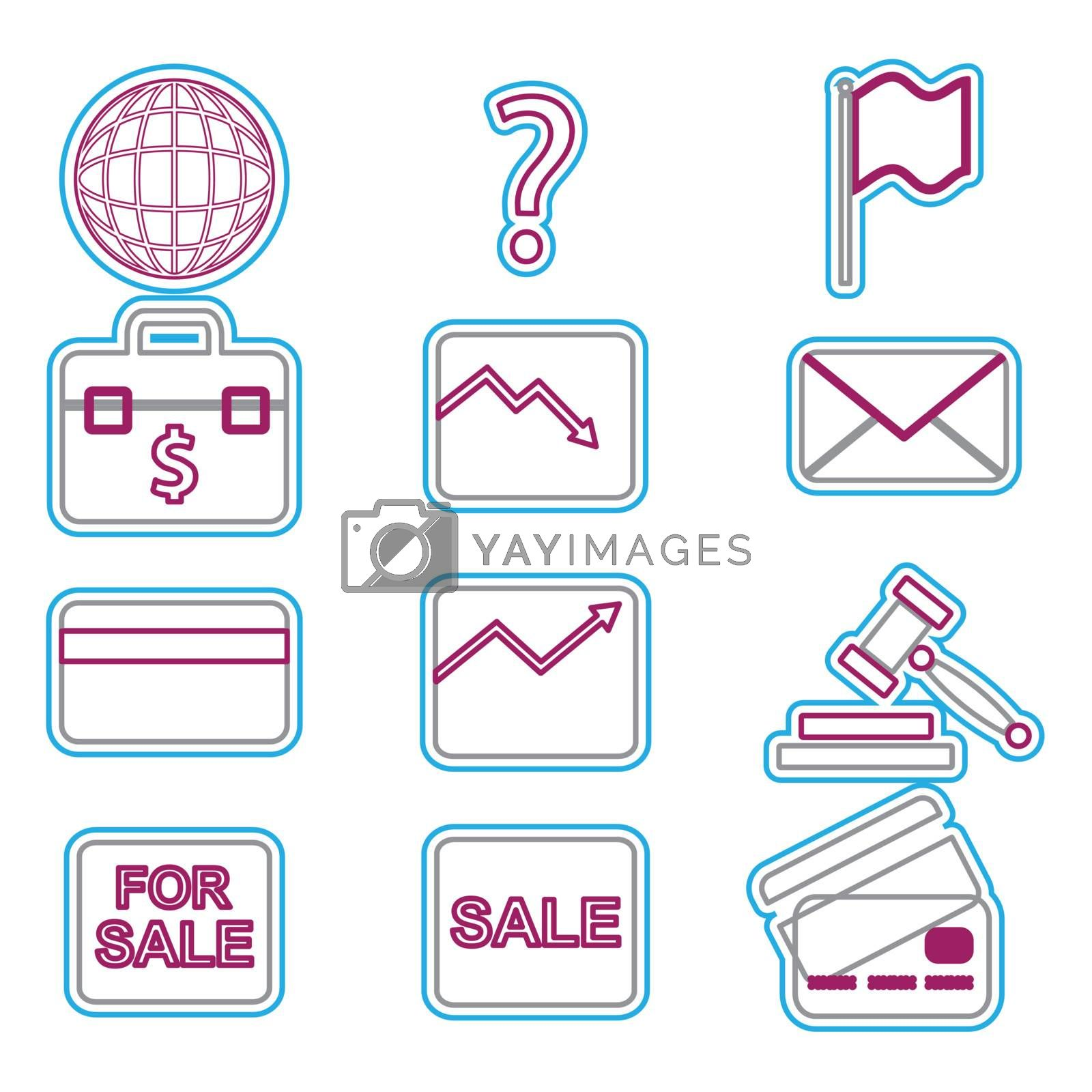 Vector business icons set 1. Vector Illustration EPS 8.