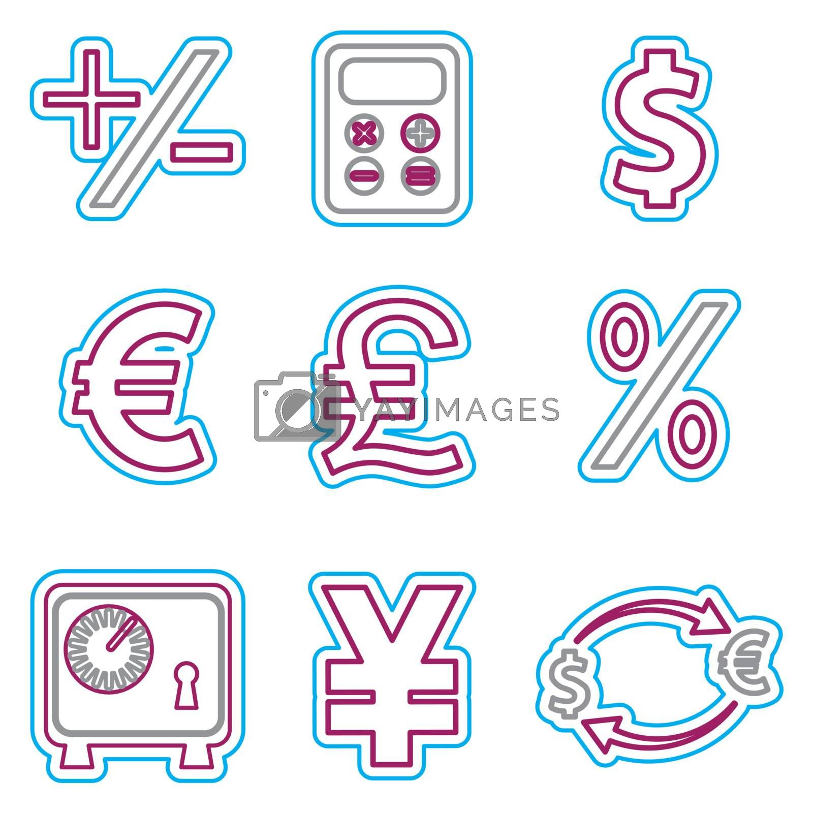 Vector business icons set 2. Vector Illustration EPS 8.