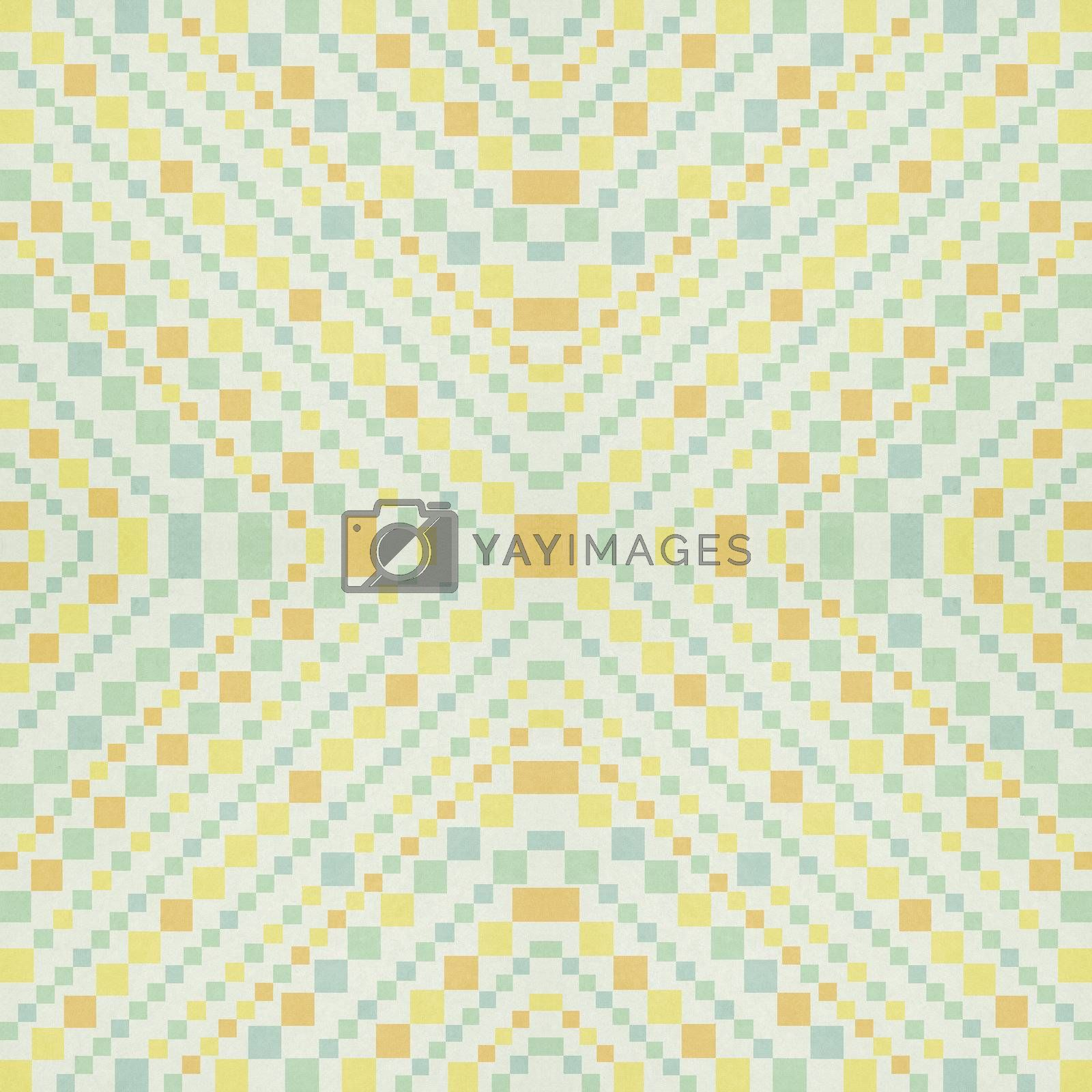 colorful square diagonal pattern on paper texture