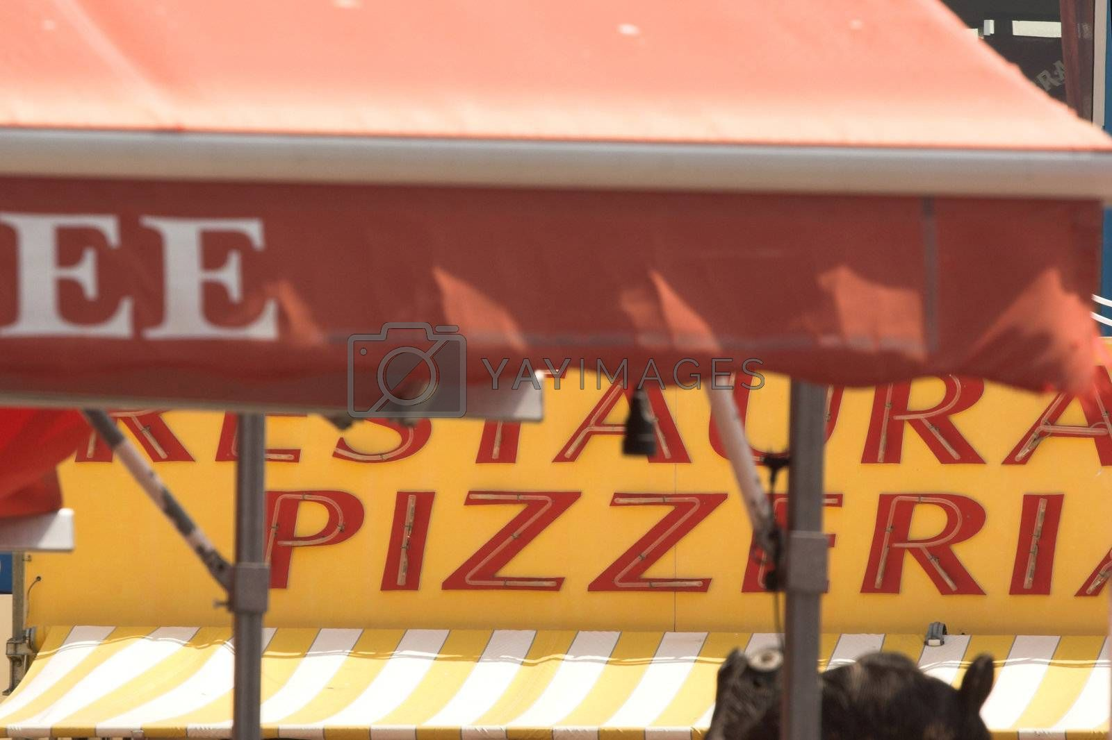 restaurant and pizzeria signs  t in france