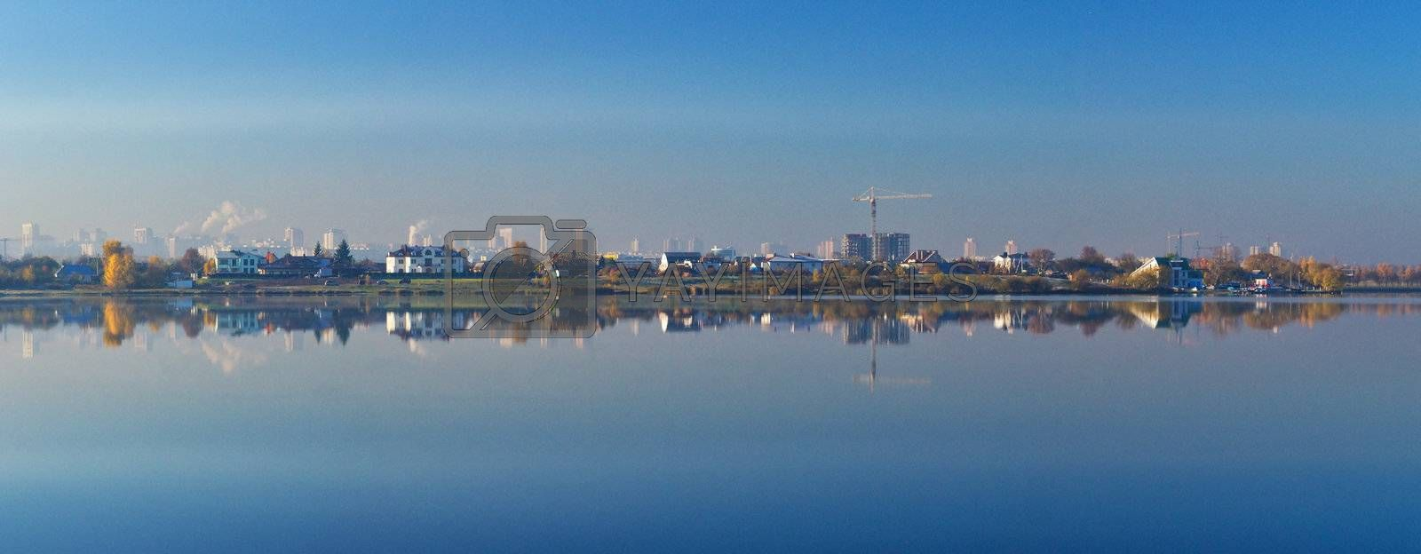 panorama of reflecting city by Alekcey