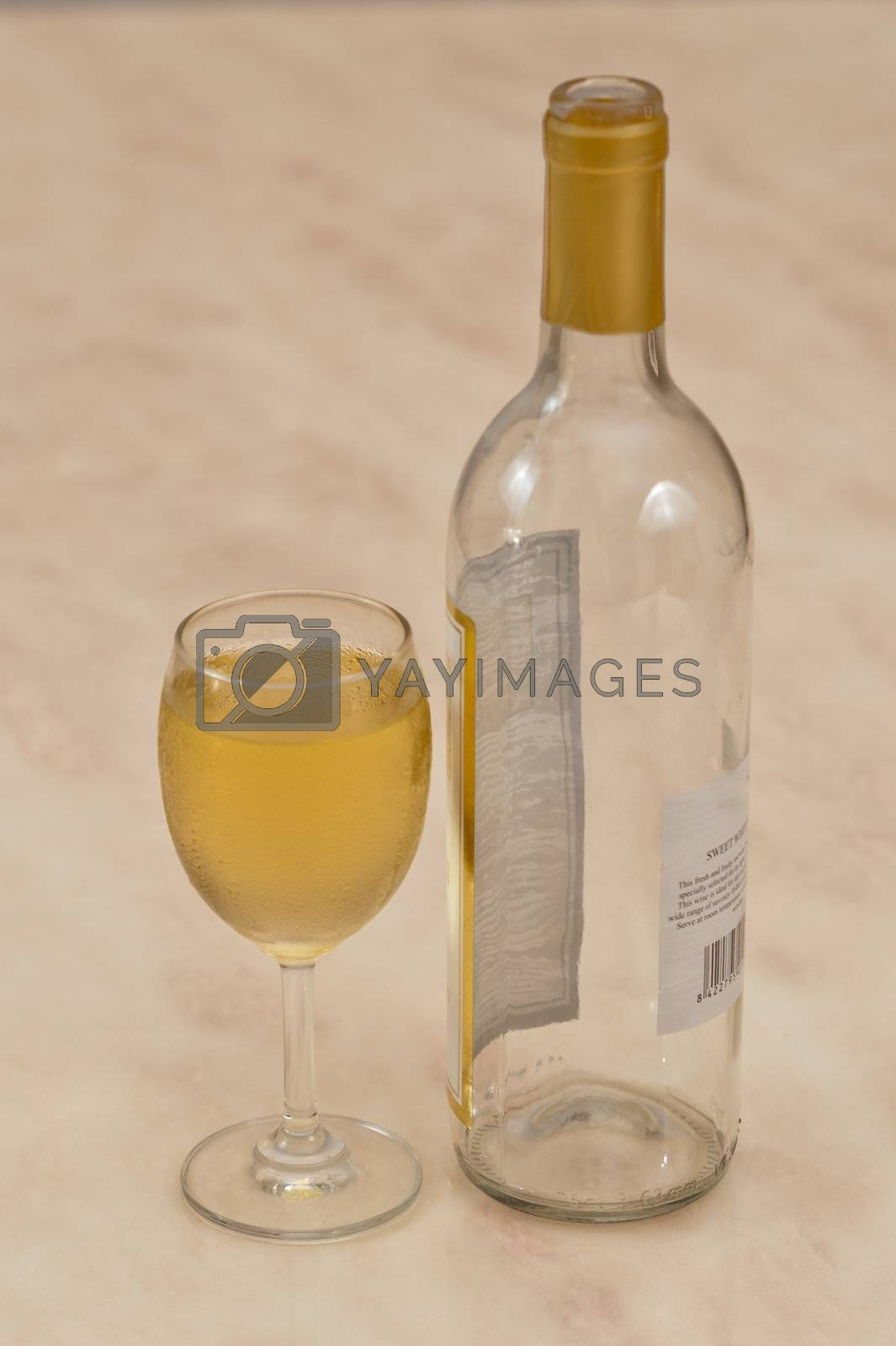 white wine and bottle