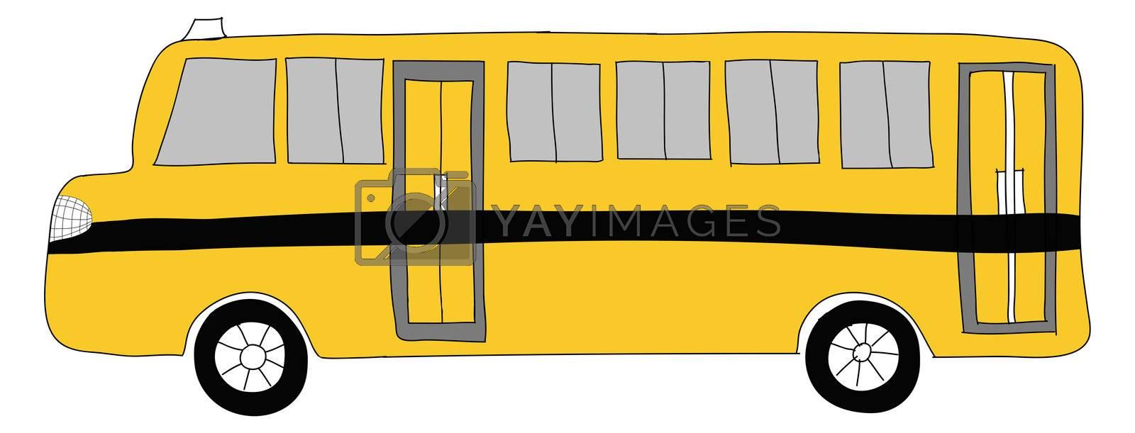 drawing  School bus