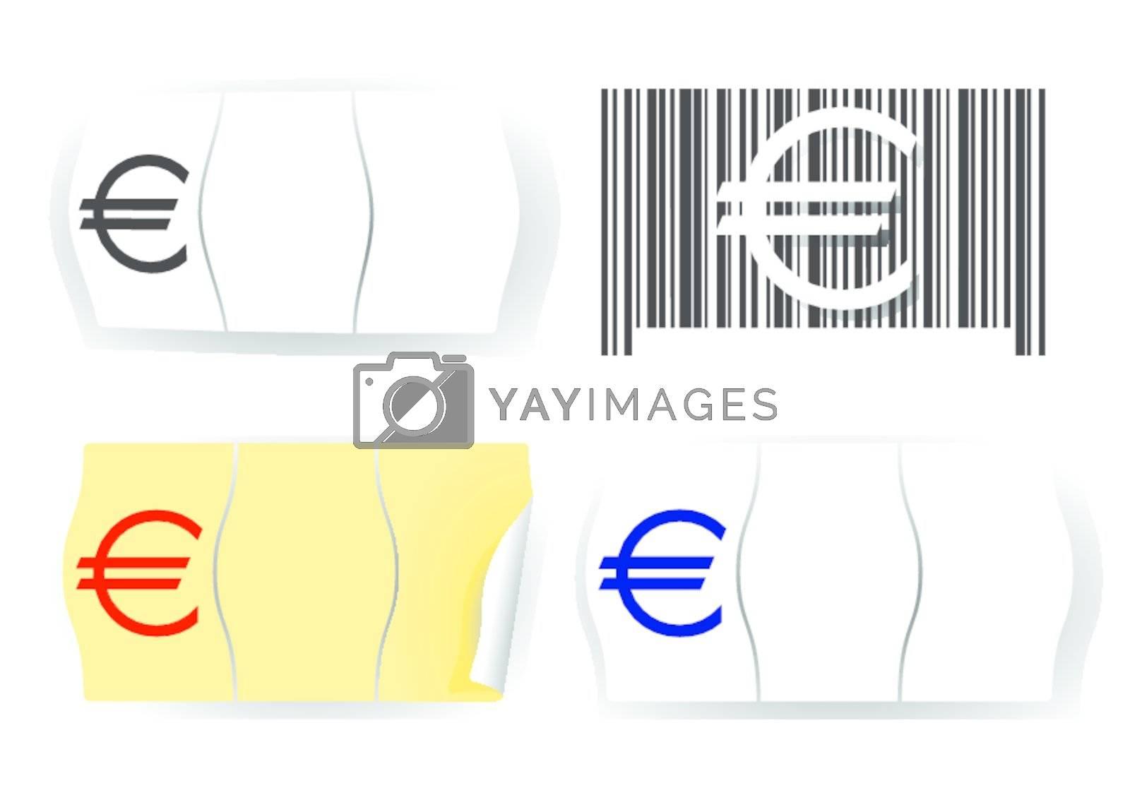 Euro price tag