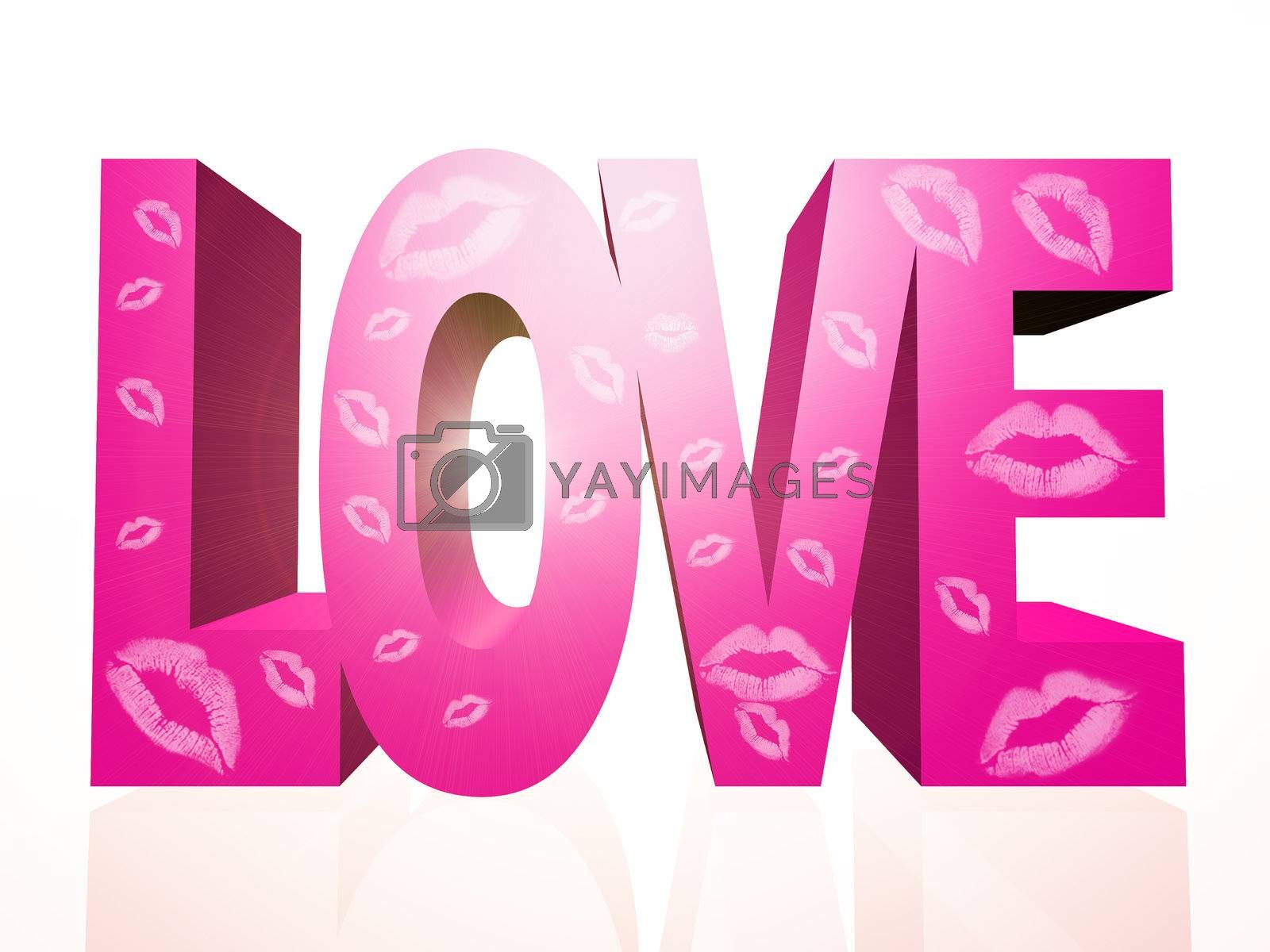 "the word ""love"" made in 3 D letters"