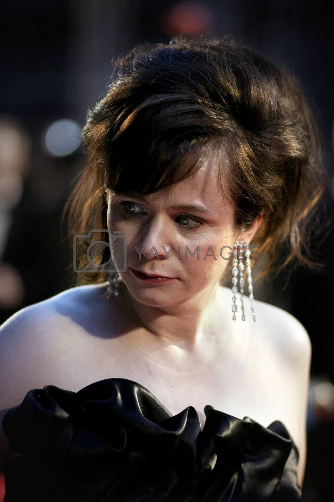 Actress Emily Watson arrives at the Orange British Academy Film Awards (BAFTAs) at the Royal Opera House on February 11, 2007 in London, England.