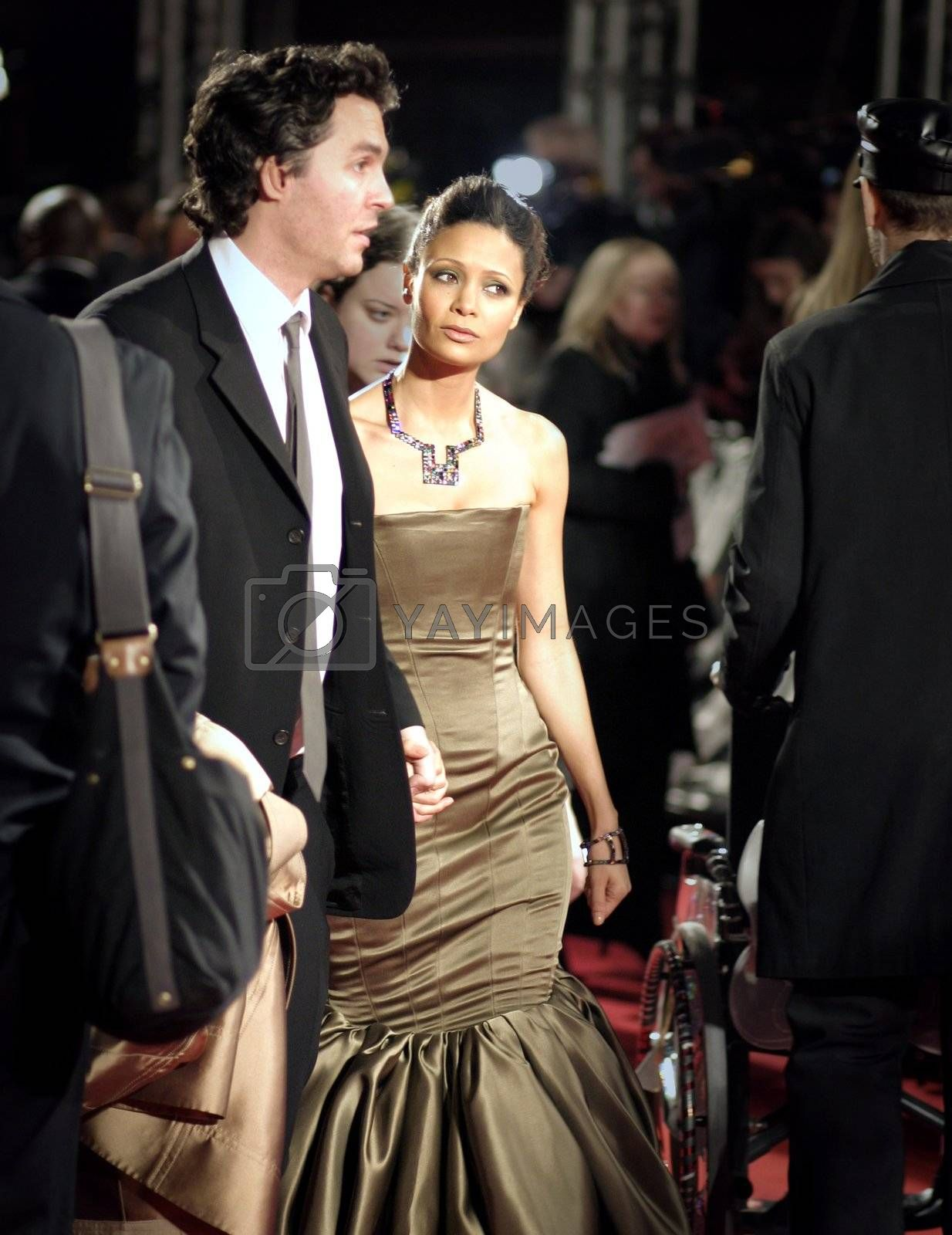 Actress Thandie Newton arrives at the Orange British Academy Film Awards in London's Royal Opera House on February 11 2007
