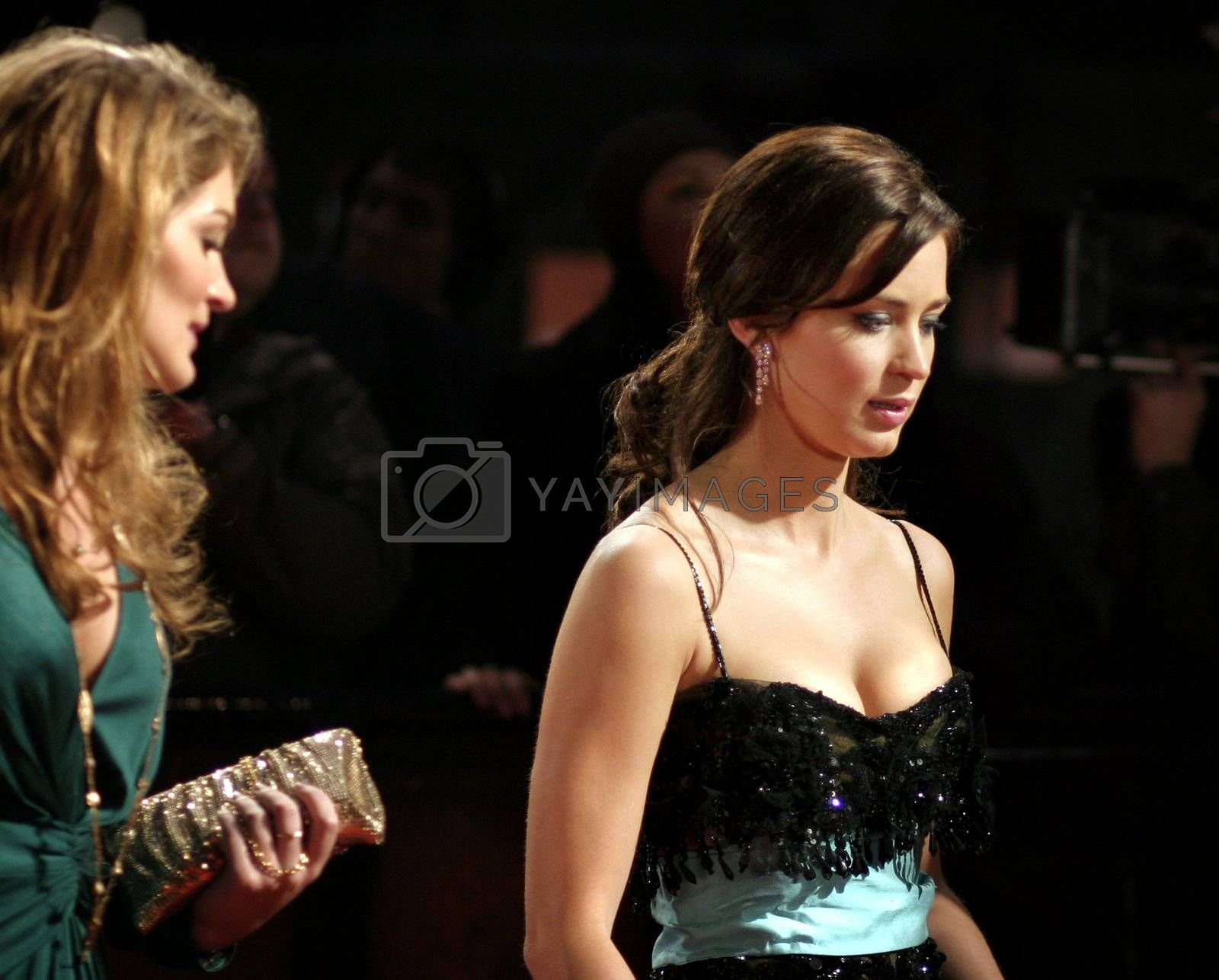 Actress Emily Blunt arrives at the Orange British Academy Film Awards in London's Royal Opera House on February 11 2007