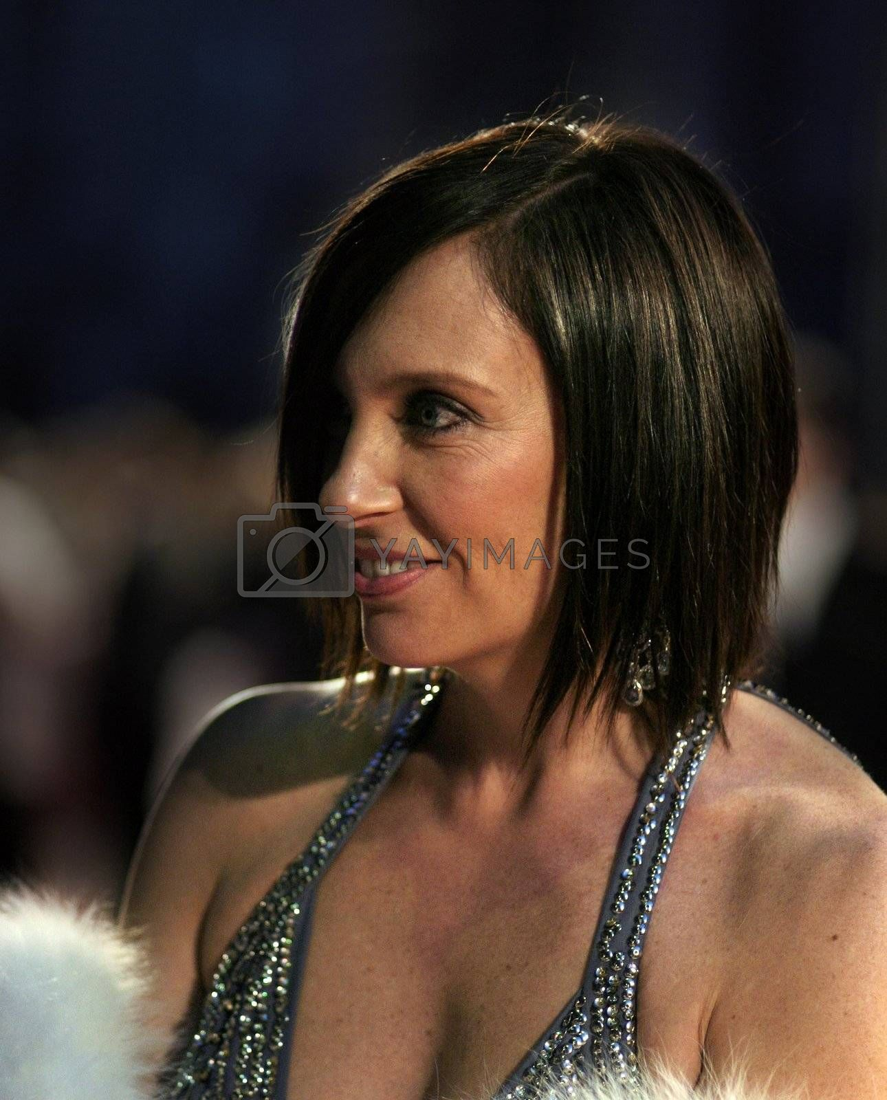 Actress Toni Collette arrives at the Orange British Academy Film Awards in London's Royal Opera House on February 11 2007