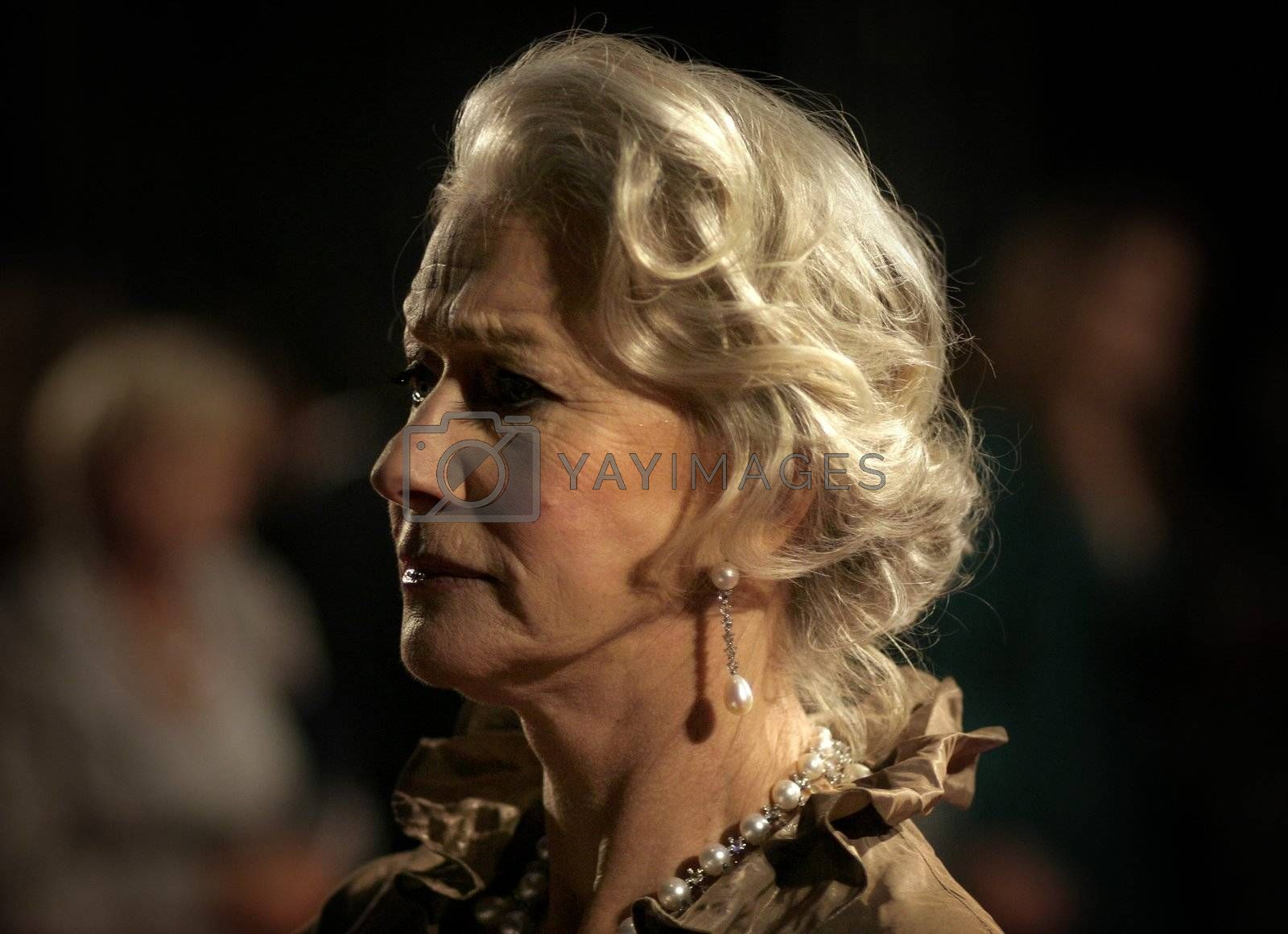 Dame Helen Mirren arrives at the Orange British Academy Film Awards in London's Royal Opera House on February 11