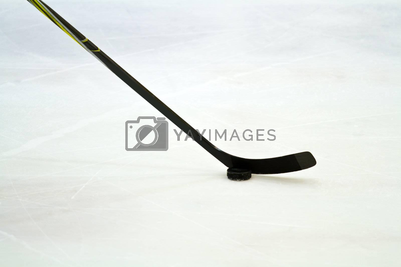 Royalty free image of hockey stick by lsantilli
