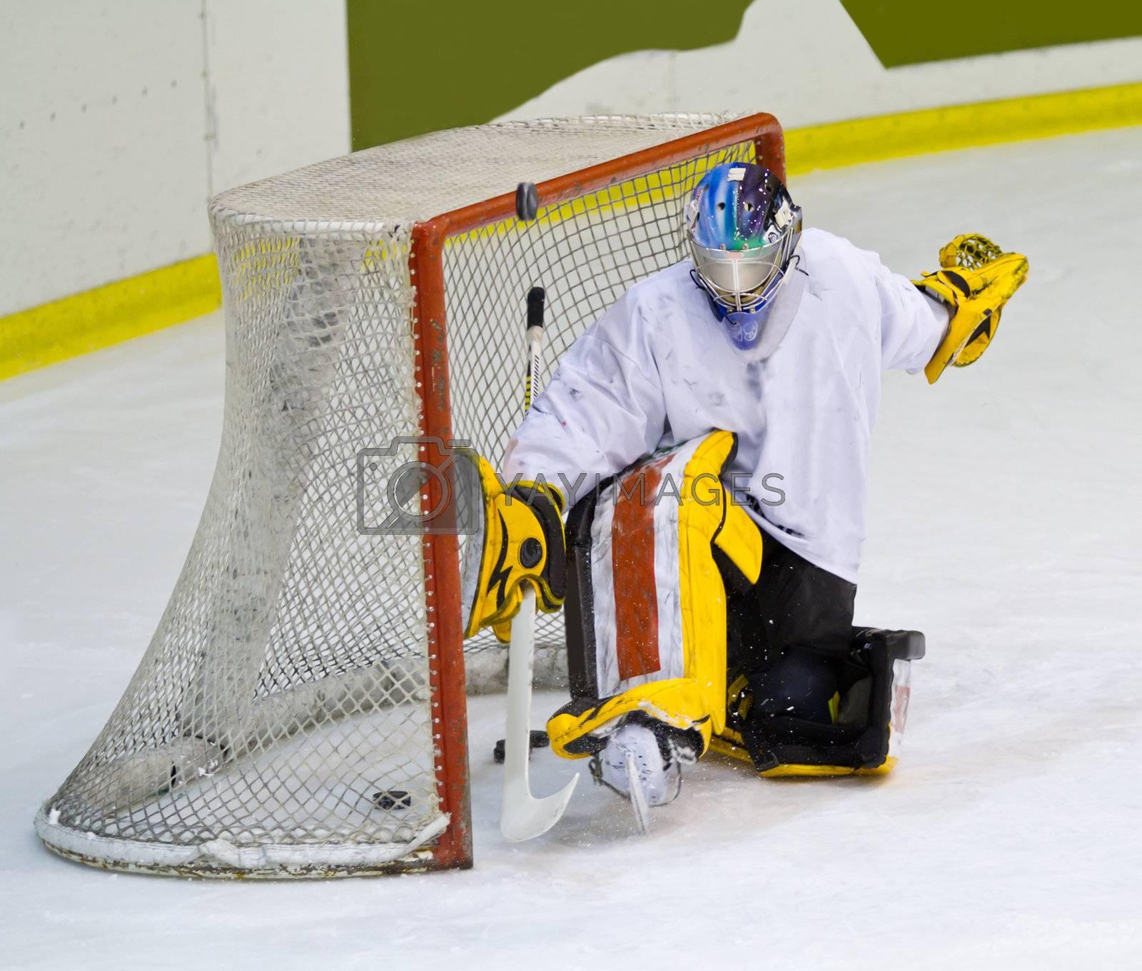 hockey player  by lsantilli
