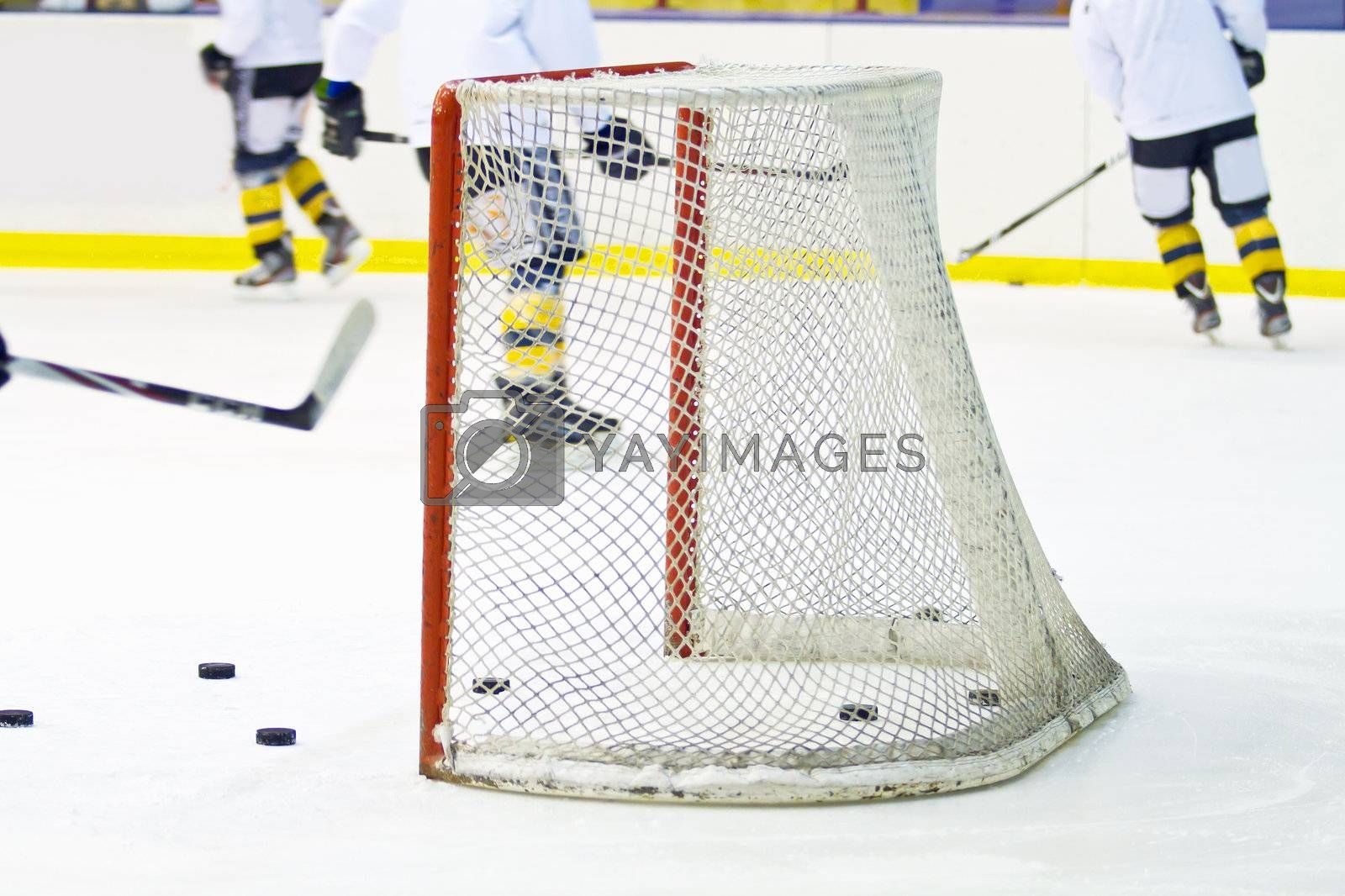 Royalty free image of hockey net  by lsantilli