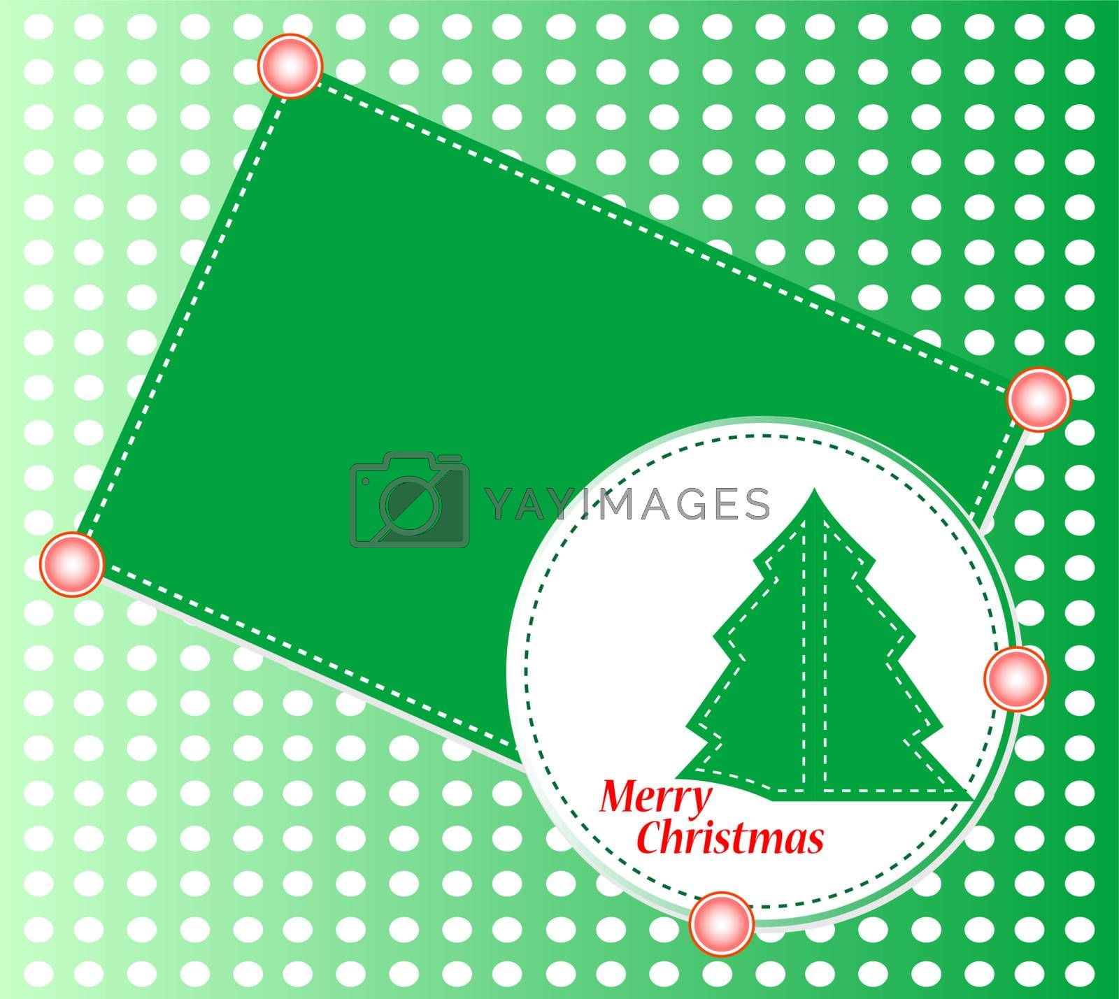 Christmas tree with ornaments. Vector christmas theme