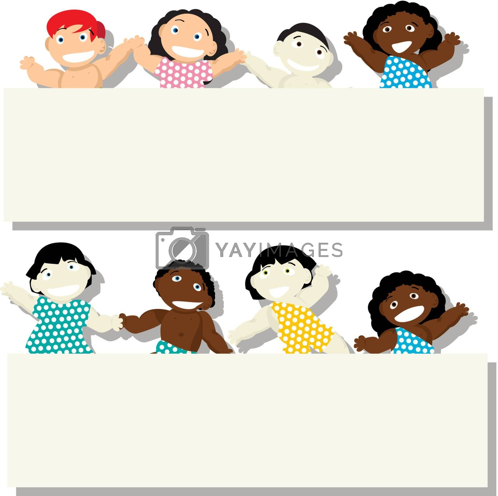 Royalty free image of Banner babies by Lirch