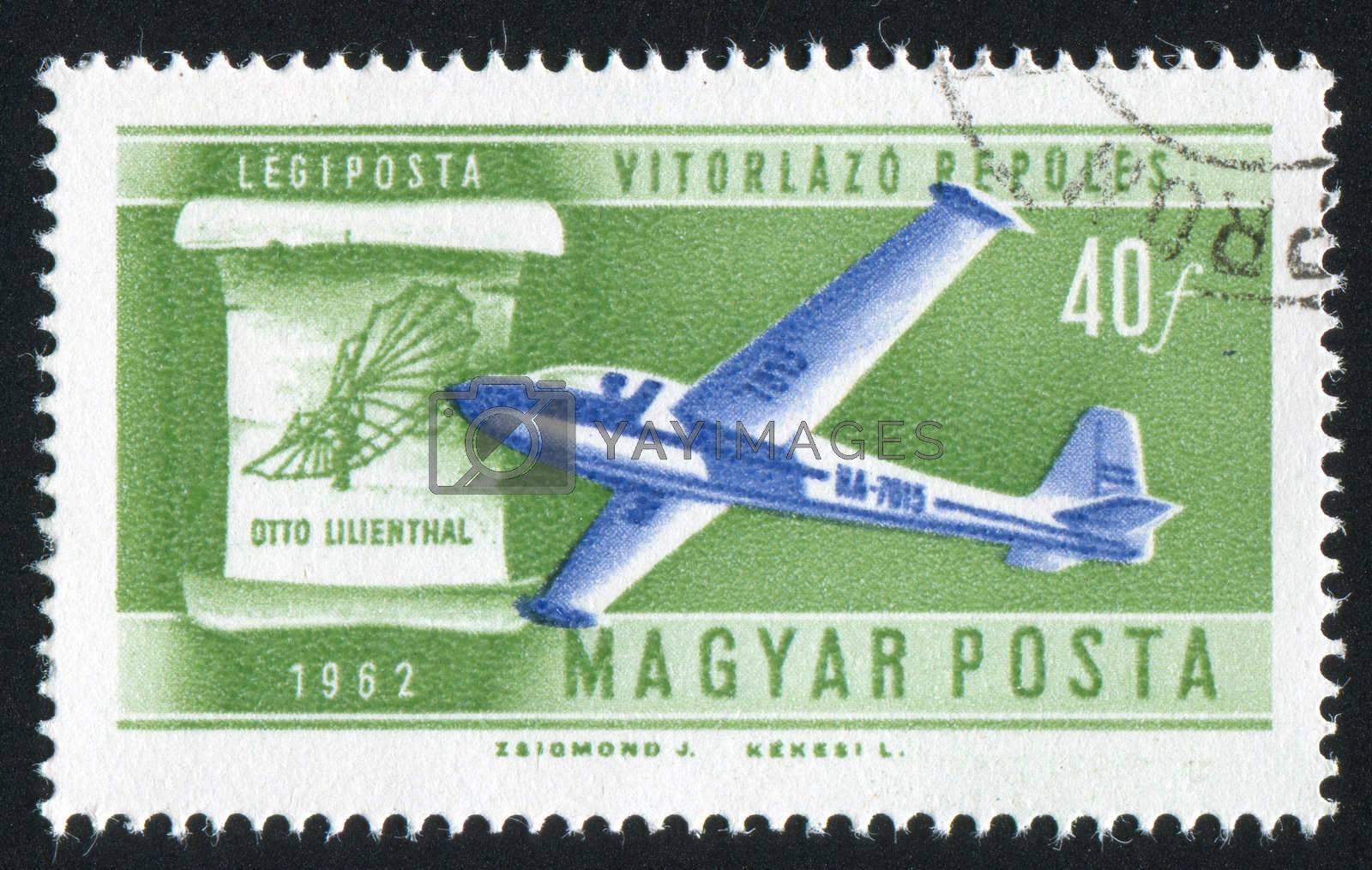 HUNGARY - CIRCA 1962: stamp printed by Hungary, shows plane, circa 1962