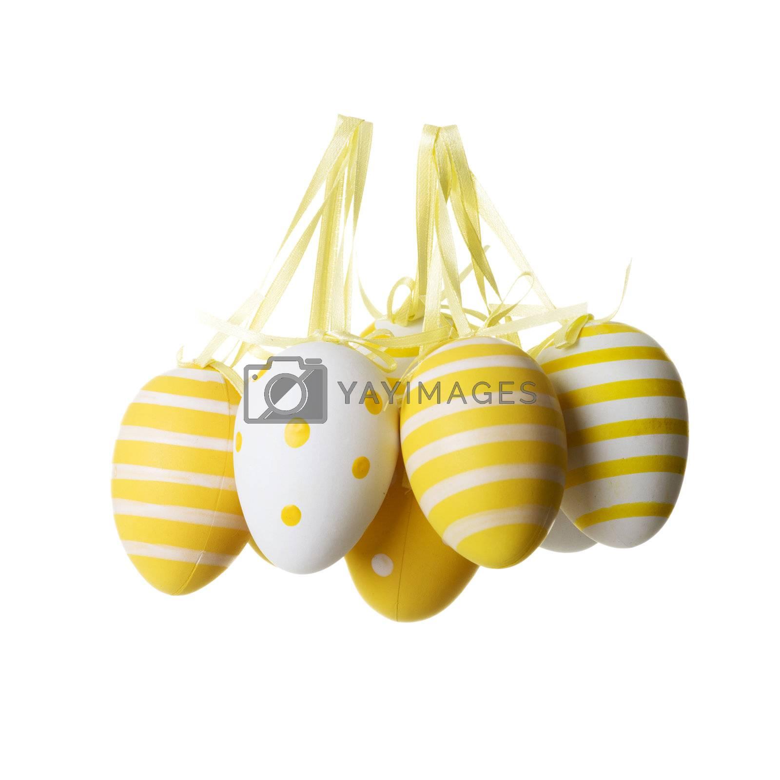 Easter egg decoration, isolated on white