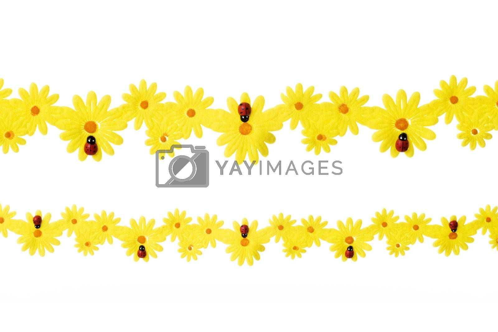 Easter spring decoration, isolated on white