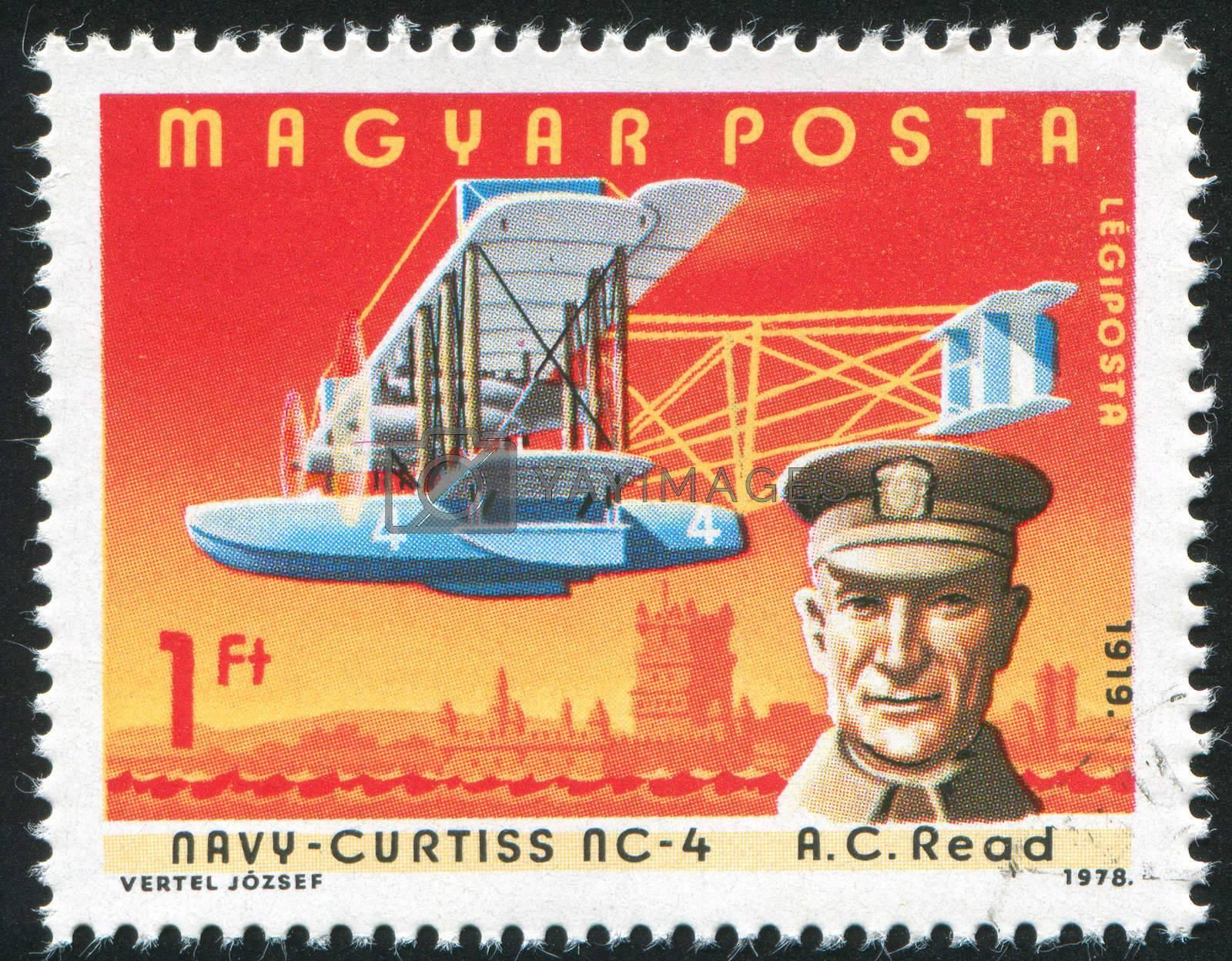 HUNGARY - CIRCA 1978: stamp printed by Hungary, shows aeroplane, A. C. Read, circa 1978
