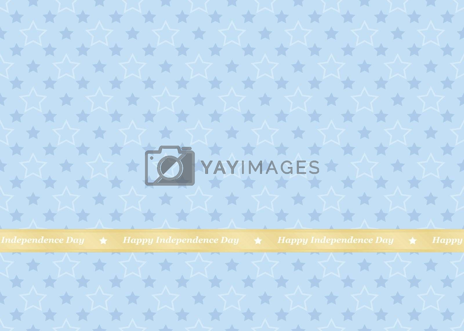 Happy Independence Day background with stars pattern