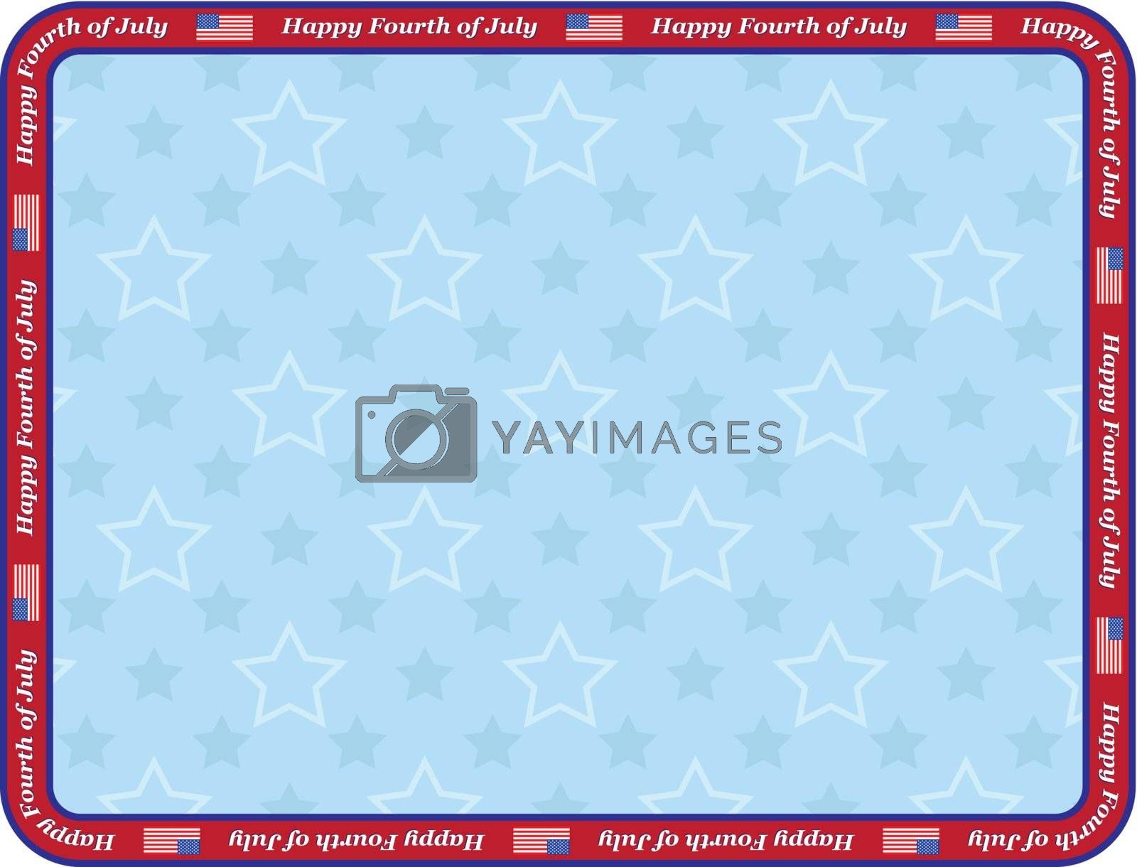 Happy Fourth of July congratulation card