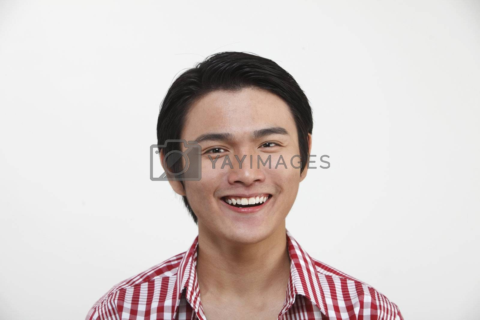 portrait of a chinese man with smile