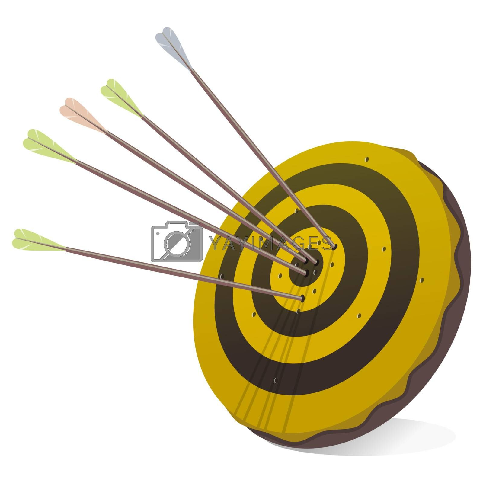 Symbol of successful business activity in form of a target