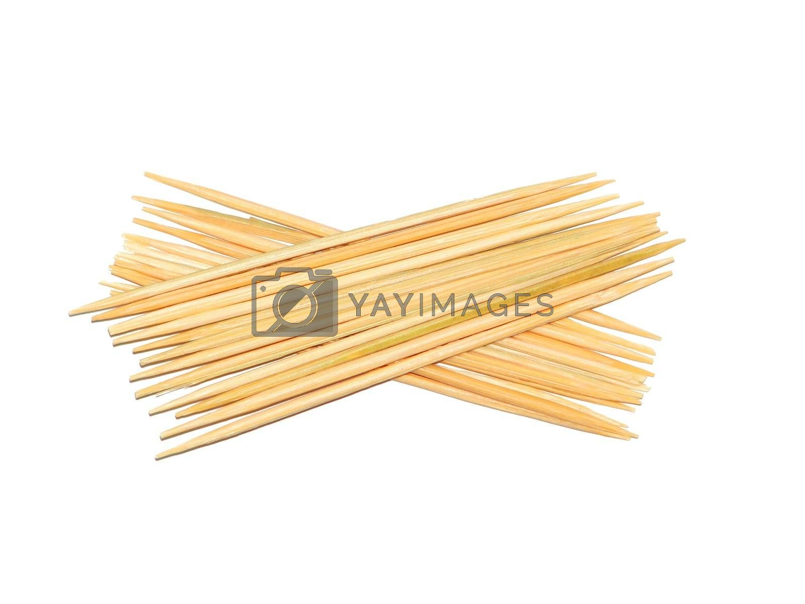 The some toothpicks isolated over white