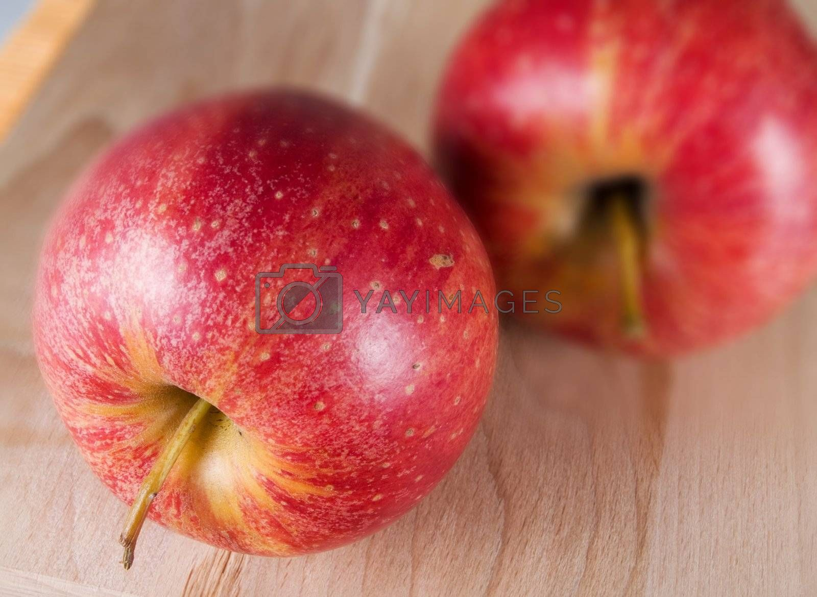 Red apples in a kitchen