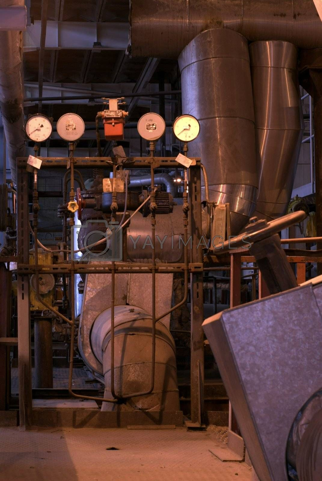 Parts and details of an steam engine   by nostal6ie