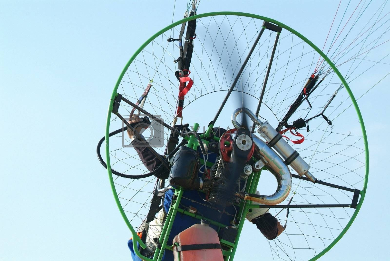 Flying paramotor by epixx