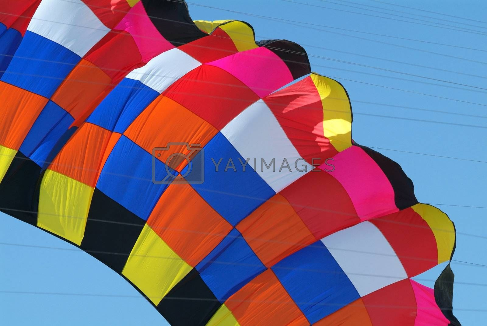 Detail of colourful kite by epixx