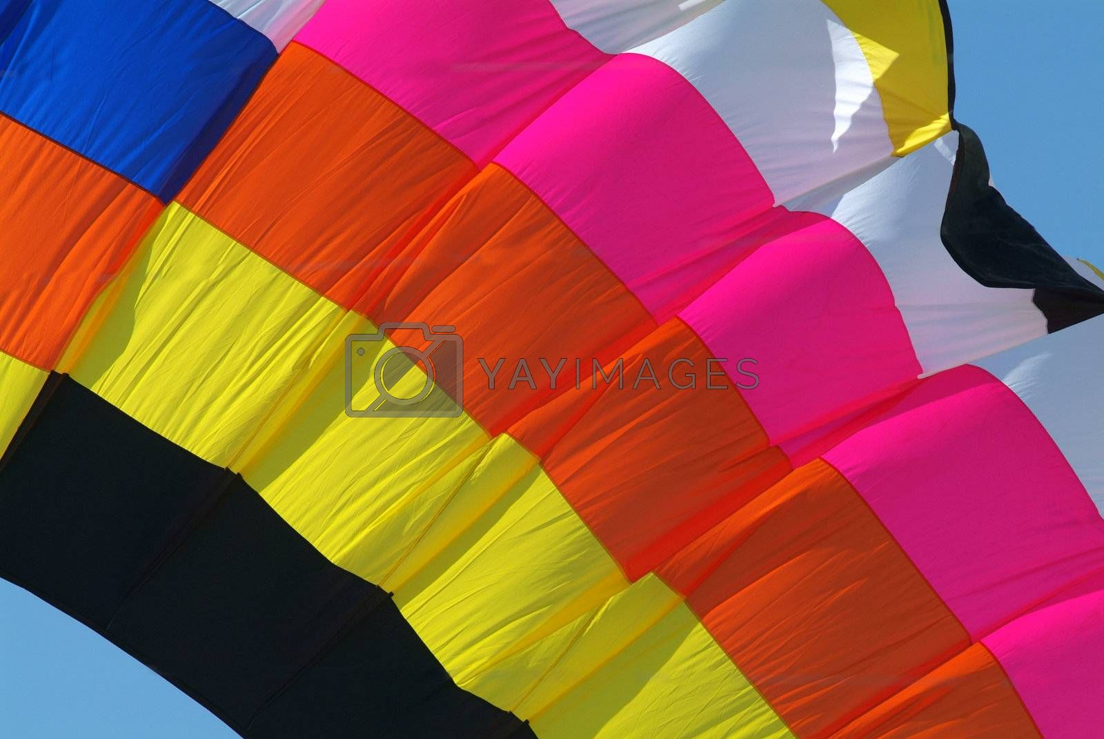 Detail of large kite by epixx