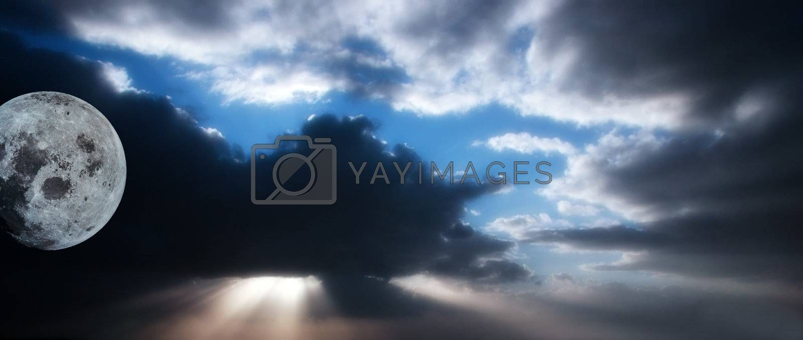 Royalty free image of dark sky 5 by morrbyte