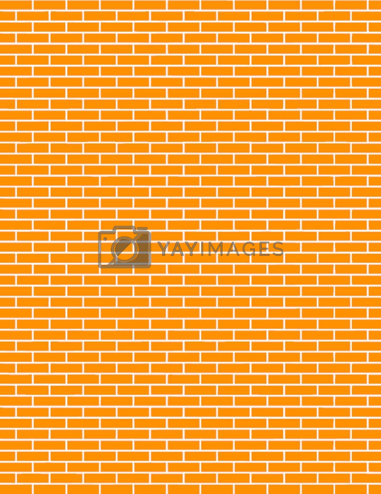 vector of a red brick wall background