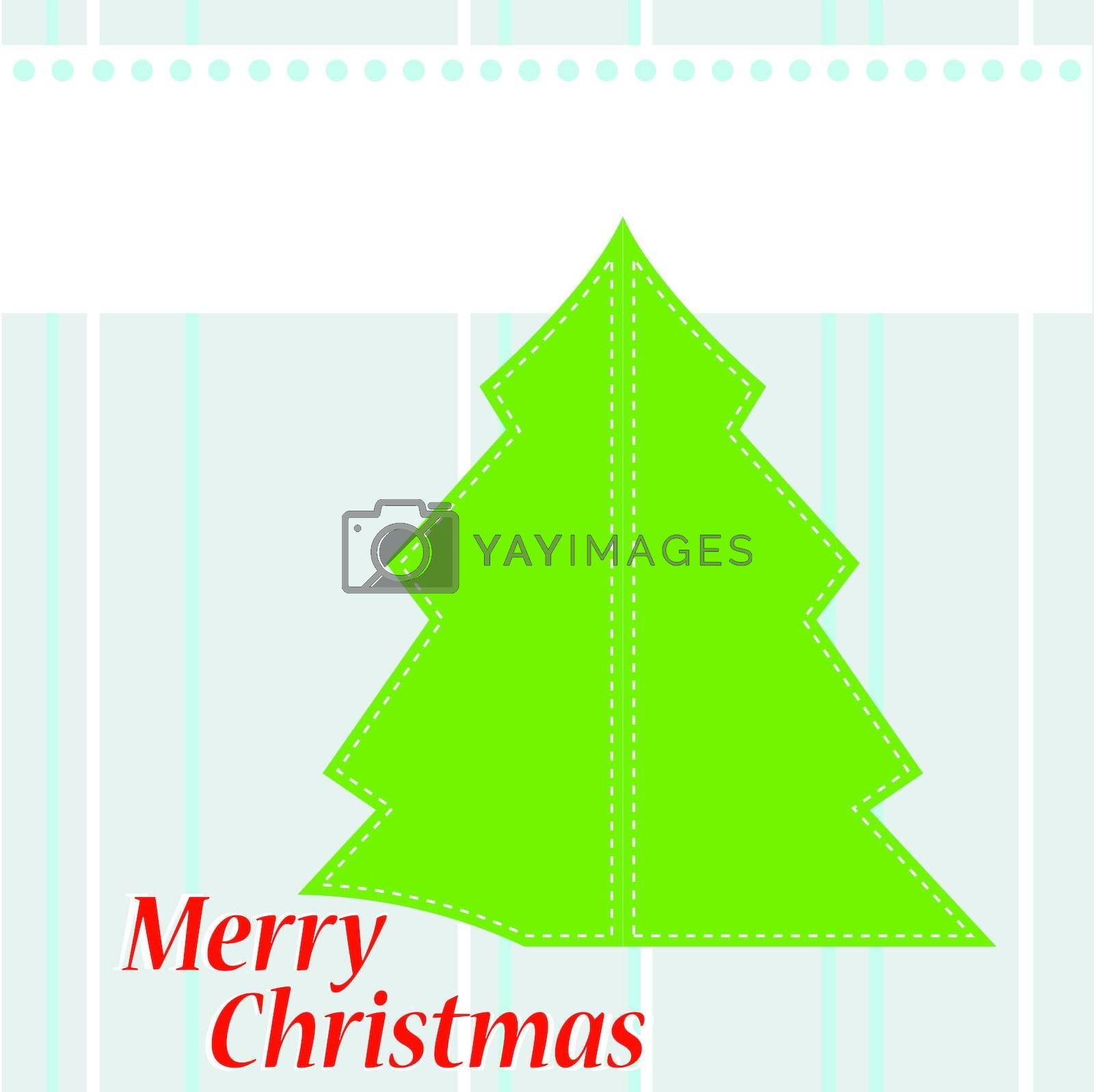 Christmas Tree Card with the words Merry Christmas