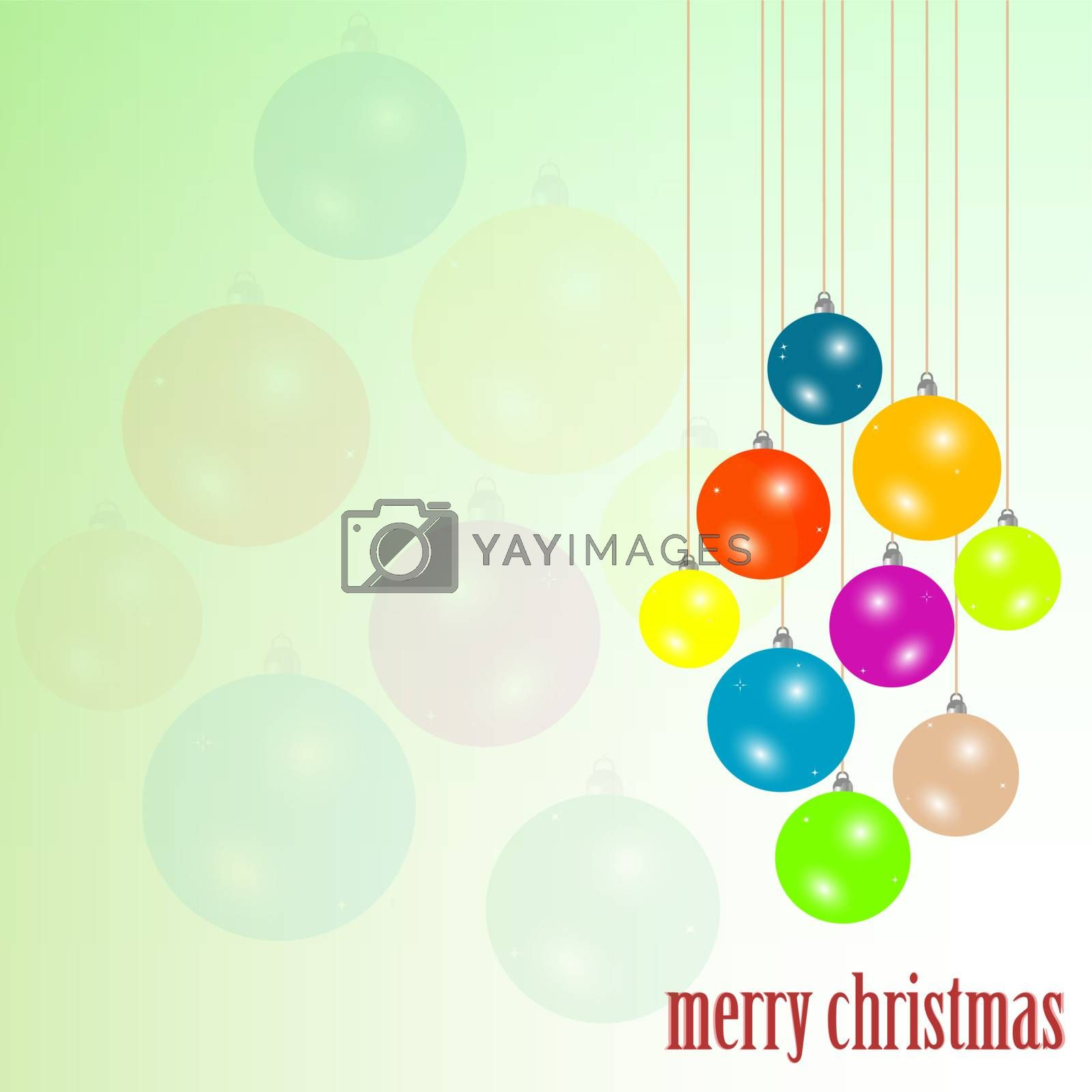 Art Christmas greeting card. new year background