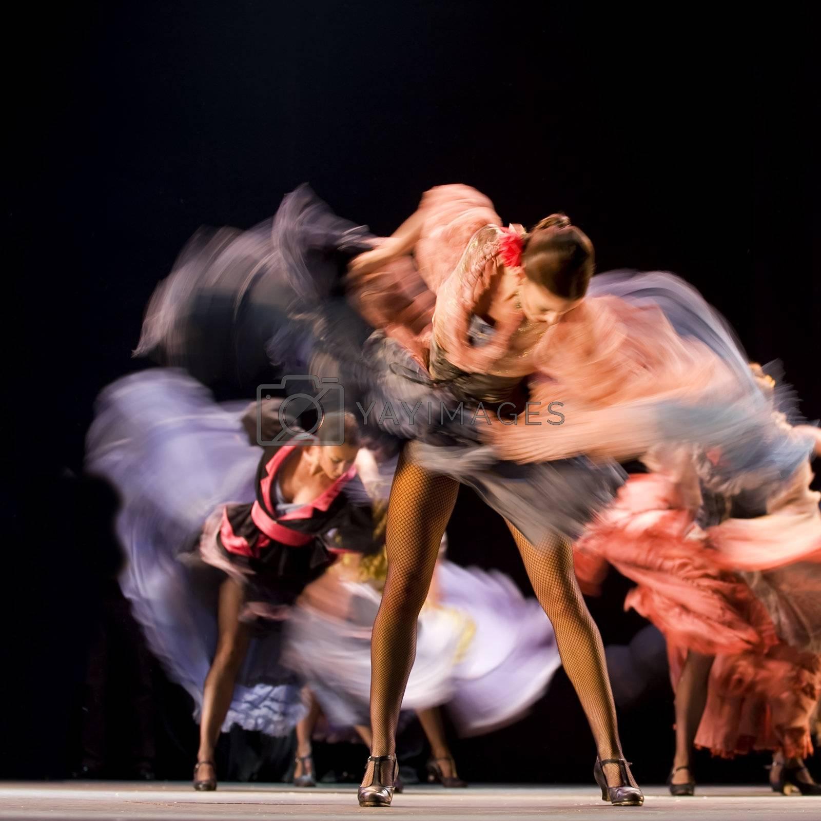 "CHENGDU - DEC 28: The Ballet Troupe of Spanish Rafael Aguilar(Ballet Teatro Espanol de Rafael Aguilar) perform the best Flamenco Dance Drama ""Carmen"" at JINCHEN theater DEC 28, 2008 in Chengdu, China."