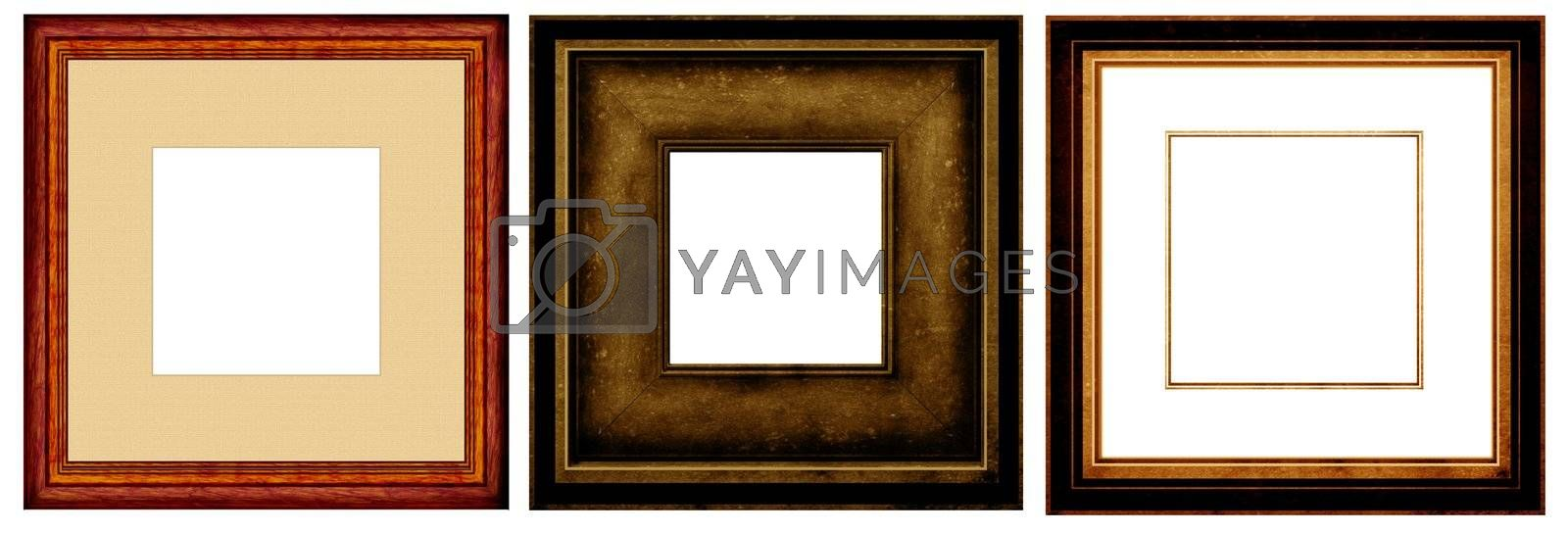 Old fashion abstract photo frame