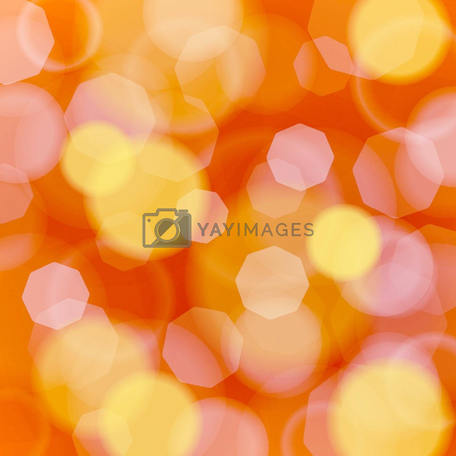 Vector Illustration of blured lights in red and orange tones