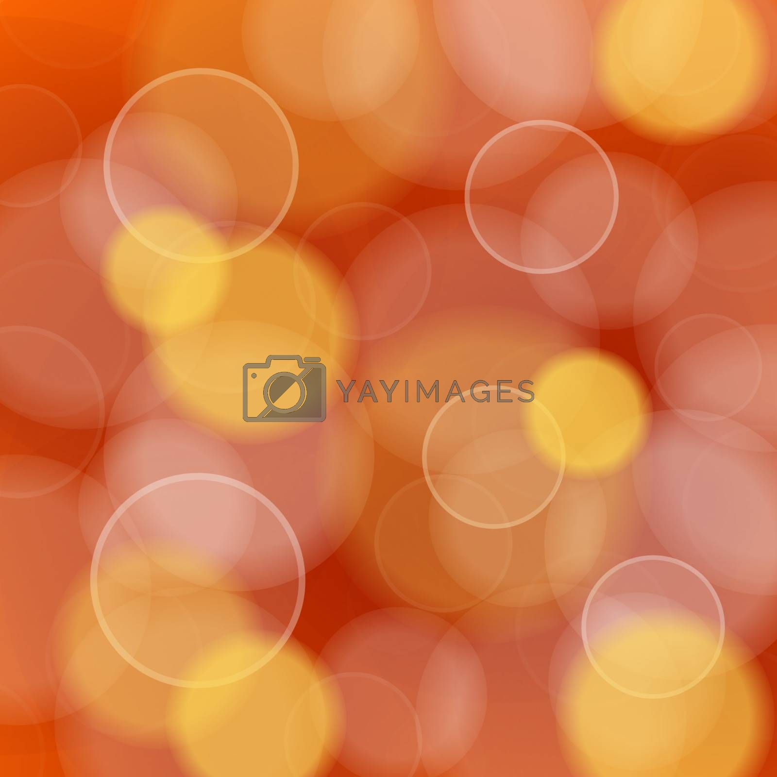 Vector Illustration of bokeh circles in red and orange tones